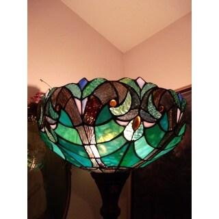 Chloe Tiffany Design Barouque Style 1-light Torchiere Lamp