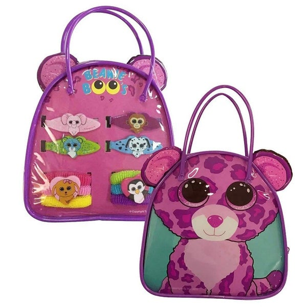 Shop Glamour The Leopard Beanie Boo Bag Set - Free Shipping On Orders Over   45 - Overstock - 16333999 ab336c89645