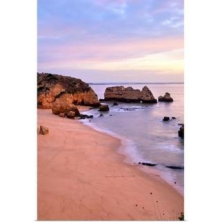 """Sunrise at Praia Dona Ana Beach in Lagos, Portugal"" Poster Print"