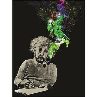 """Albert Einstein Smoke Galaxy 45""""x60"""" Throw Blanket - Multi"""