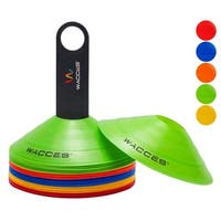 Wacces Agility Disc Cones with Transportation Caddy Pack of 25