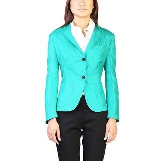 Prada Women's Silk Shimmering Jacket Green - 10