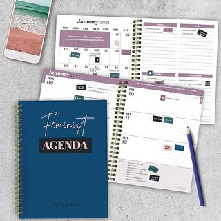 Link to 2021 Feminist Agenda Medium Weekly Monthly Planner - 6x8 Similar Items in Calendars & Journals