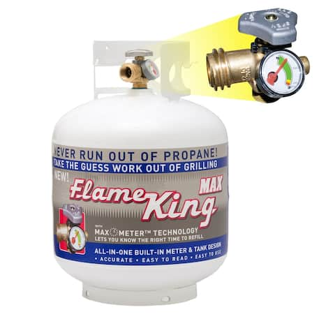 20 LB Pound Propane Cylinder with OPD Valve and Built-in Gauge