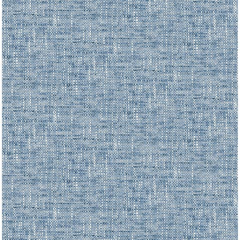 Brewster NU2918 NuWallpaper 30-3/4 Square Foot - Poplin - Self-Adhesive Vinyl Wallpaper - Blue