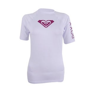 Roxy Women's Short-Sleeve Logo Rash Guard - White