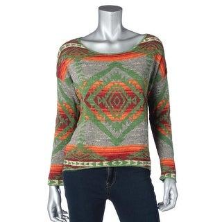 Denim & Supply Ralph Lauren Womens Cotton Hi-Low Pullover Sweater - M