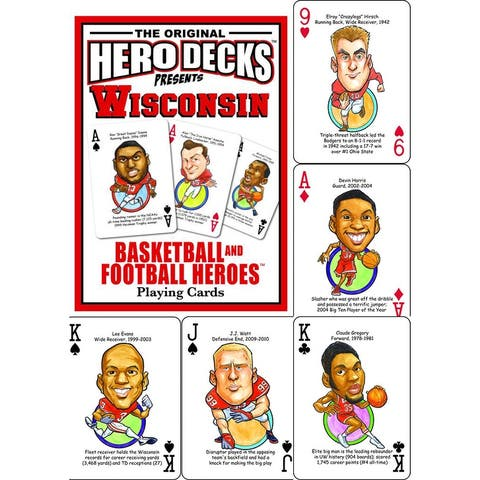 Hero Decks Presents Wisconsin Basketball and Football Heroes - Multi