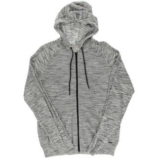 Calvin Klein Jeans Mens Knit Slub Zip-Front Hoodie - XL