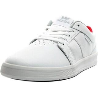 Supra Ineto Men Round Toe Canvas White Skate Shoe