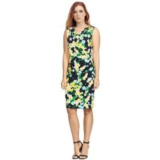 American Apparel Floral Print Sleeveless Cowl Dress - 14