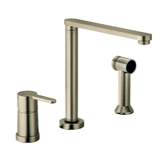 Fortis 9259000 Adjustable Spout Height Kitchen Faucet - Includes Side Sprayer