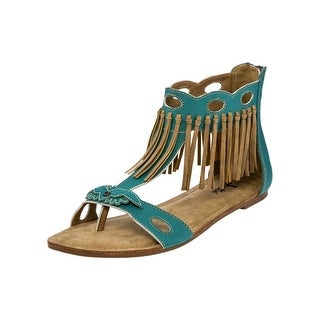 Justin Casual Shoes Womens Sandals Open Toe Unit Heel Turquoise LS131