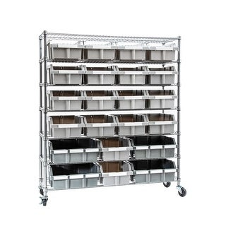 Link to Extra-Large Commercial 7-Tier 21 Bin NSF-Certified Bin Rack Similar Items in Storage & Organization