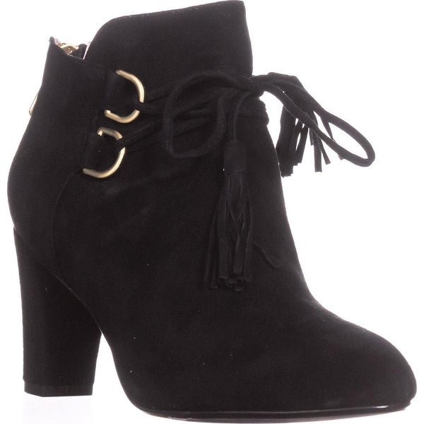 Taryn Rose Trisha Tassel Ankle Boots, Black - 9 us