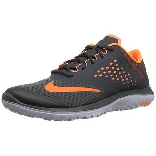 NIKE Men's FS Lite 2 Running Shoe, Anthracite/Total Orange/Wolf Grey