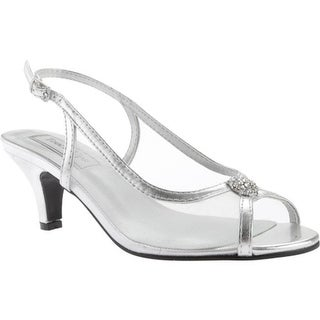 Touch Ups Women's Elite Slingback Silver Metallic