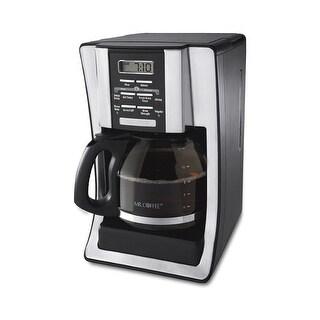 Mr. Coffee BVMC-SJX36RB 12 Cup Programmable Coffee Maker - Black/Red