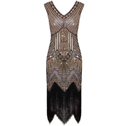 Vijiv Women's Dress Gold Size XS Sequin Embellished Swing Party Shift