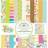 "Doodlebug Double-Sided Paper Pack 12""X12"" 11/Pkg-Sweet Summer"