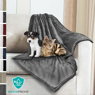 PetAmi WATERPROOF Dog Blanket | Plush Sherpa Medium Dog Blanket for Bed, Couch - 30 x 40 Inches