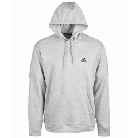 Adidas Mens Sweater Classic Light Gray Size 2XL Pullover Hooded