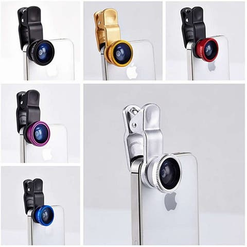 3-In-1 Universal Clip-On Smartphone Camera Lens In 6 Colors