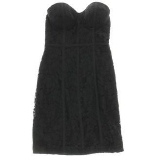 Guess Womens Lace Corset Clubwear Dress