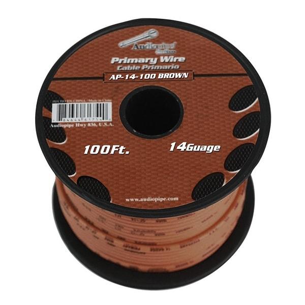 Audiopipe 14 gauge 100ft Brown primary wire