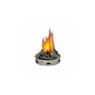 Napoleon GPFP-2 Patioflame 60000 BTU 20 Inch Diameter Liquid Propane Outdoor Fireplace with PHAZER Logs - STAINLESS STEEL