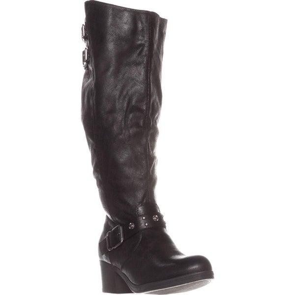 Carlos by Carlos Santana Cara Wide Calf Knee-High Boots, Black