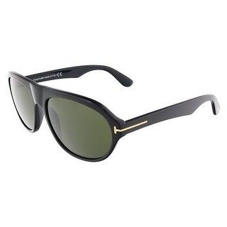 Tom Ford FT0397/S 01N IVAN Shiny Black Oval sunglasses