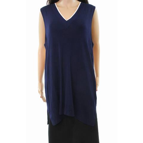 Lauren By Ralph Lauren Plus Vest Sleeveless V-Neck Sweater
