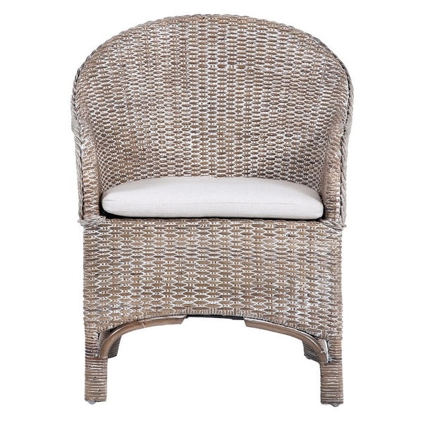 "Safavieh Antonia Rattan Accent Chair with Cushion - 22"" W x 26.8"" L x 33.5"" H. Opens flyout."