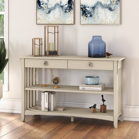 Salinas Console Table with Drawers and Shelves by Bush Furniture