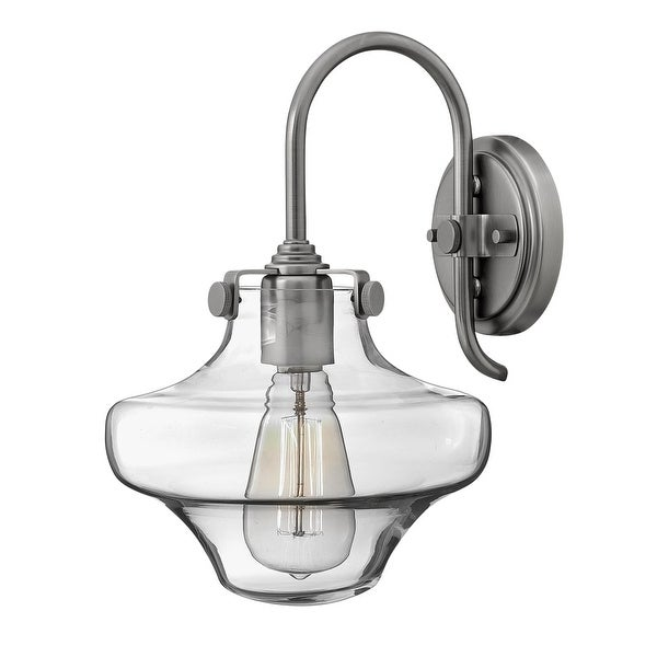 Hinkley Lighting 3171 1 Light Indoor Wall Sconce with Clear Schoolhouse Shade from the Congress Collection