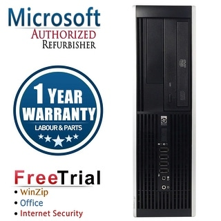 Refurbished HP Compaq 8000 Elite SFF Intel Core 2 Quad Q6600 2.4G 8G DDR3 320G DVDRW Win 7 Pro 64 1 Year Warranty - Black
