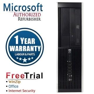Refurbished HP Compaq 8000 Elite SFF Intel Core 2 Quad Q8200 2.33G 4G DDR3 500G DVDRW WIN 10 Pro 64 1 Year Warranty - Black