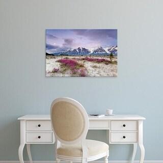 Easy Art Prints Jaynes Gallery's 'View Of Wildflowers' Premium Canvas Art