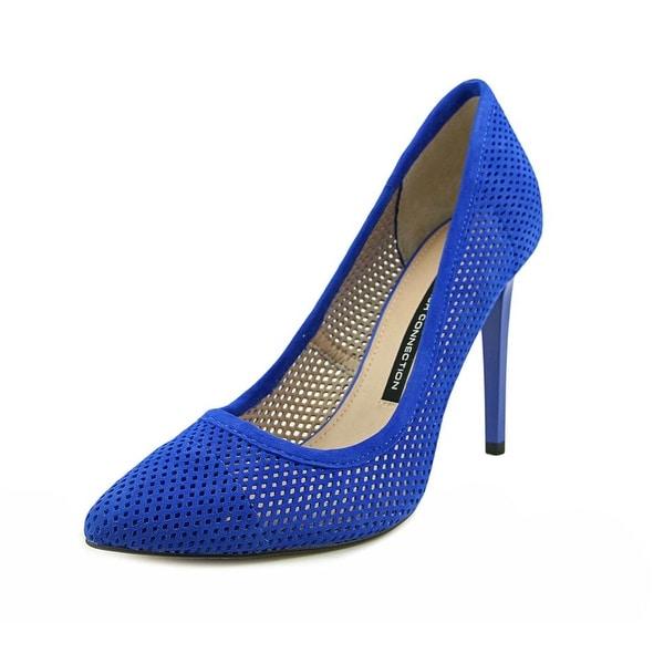 French Connection Monet Bin Women Peep-Toe Synthetic Blue Heels