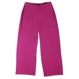 Alfani NEW Purple Wide Leg Women's Size Large L Knit Casual Pants