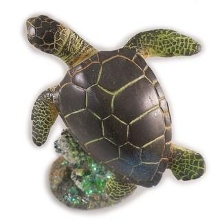 "Sea Creations Ocean Turtle Figurine 5"" Green"