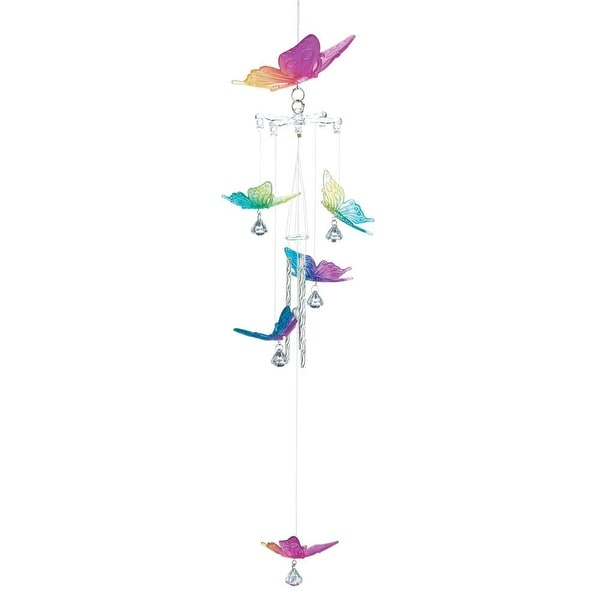 Natural Rainbow Butterfly Windchime