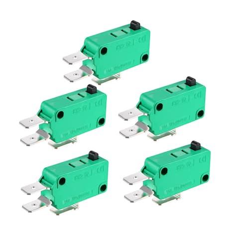 5PCS KW3-OZ 16A 125/250VAC SPDT NO NC Push Button Action Type Micro Switches