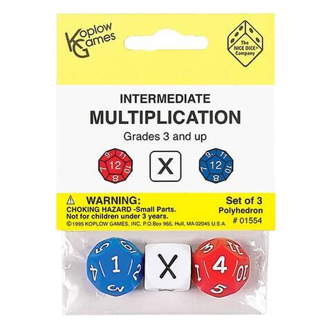 Intermediate Multiplication Dice
