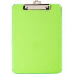 Green - Low Profile Neon Plastic Clipboard