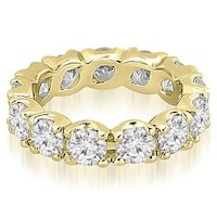 14K Yellow Gold 2.70 cttw.  Round Diamond Eternity Ring HI,SI1-2
