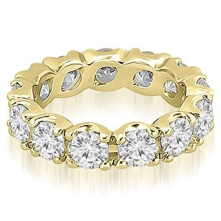 14K Yellow Gold 2.70 cttw. Round Fishtail Diamond Eternity Wedding Band HI, SI1-2