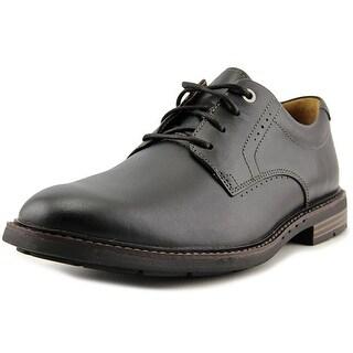Unstructured By Clarks Unelott Plain Men Round Toe Leather Black Oxford