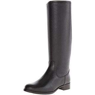 La Canadienne Womens Sarit Riding Boots Leather Textured - 6 medium (b,m)